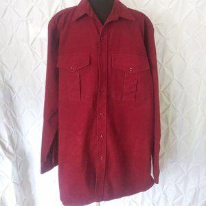 Eddie bauer red winter flannel shirt